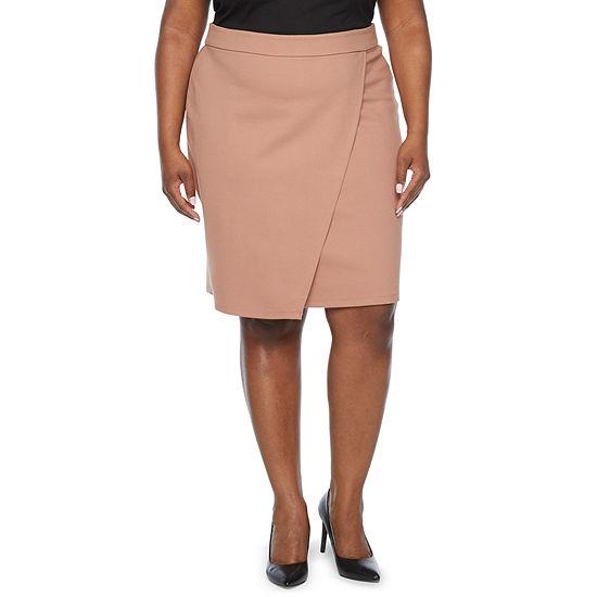 Liz Claiborne Womens A-Line Skirt-Plus