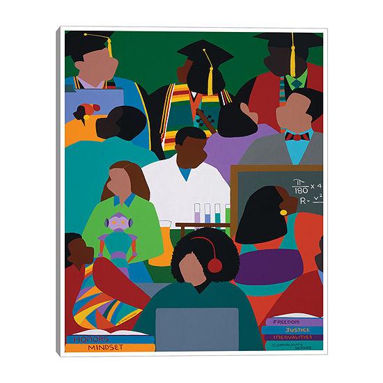 Synthia Saint James Honors Mindset 16x20 Canvas Art