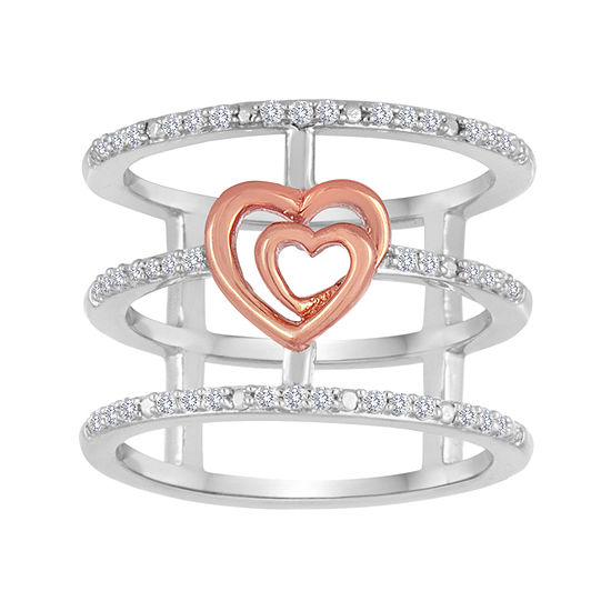 ForeverMine® 1/5 CT. T.W. Diamond Two-Tone Open-Cage Ring