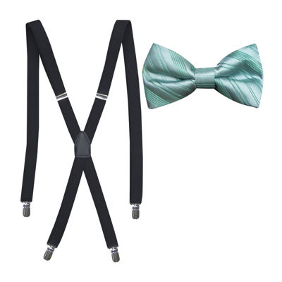 JF J. Ferrar® Striped Bowtie and Suspender Set