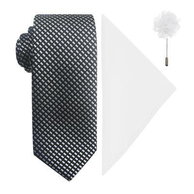 JF J. Ferrar® Natte Tie, Pocket Square and Lapel Pin Set