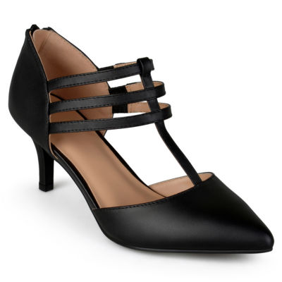 Journee Collection Womens Pacey Pumps Zip Pointed Toe Stiletto Heel