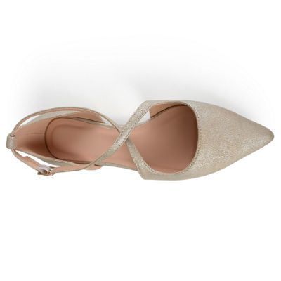 Journee Collection Womens Malina Ballet Flats Buckle Pointed Toe