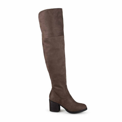 Journee Collection Womens Sana Over the Knee Boots Zip