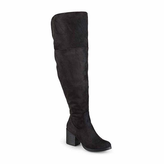 Journee Collection Womens Sana Over The Knee Boots Zip