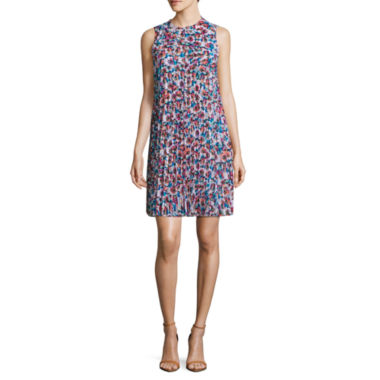 Nicole By Nicole Miller Sleeveless Floral Shift Dress
