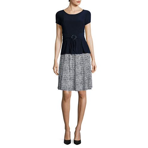 Perceptions Short Sleeve 2-pc. Skirt Set
