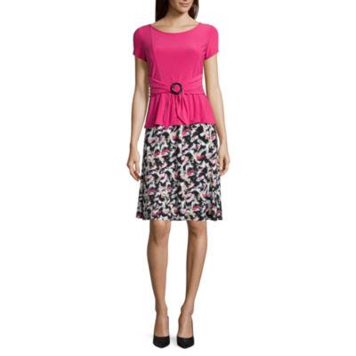 Perceptions Short Sleeve 2-pack Skirt Set