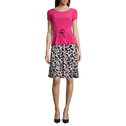 Perceptions Short Sleeve 2-pc. Skirt Set