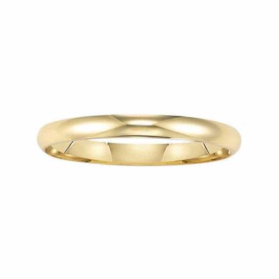 Unisex 2 Mm 14K Gold Wedding Band