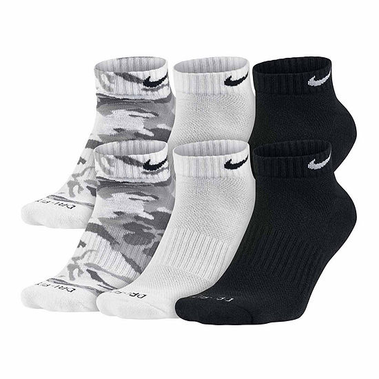 Nike Mens 6 Pk Dri Fit Mix Camo Low Cut Socks