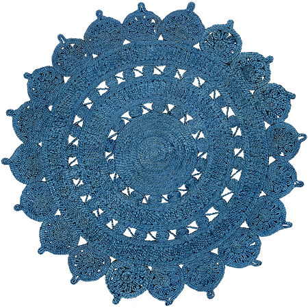 Decor 140 Kinsley Round Indoor Rugs, One Size , Blue