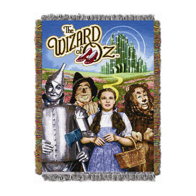 Warner Bros Wizard Of Oz Tapestry Throw