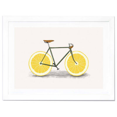 Zest by Florent Bodart White Framed Fine Art PaperPrint