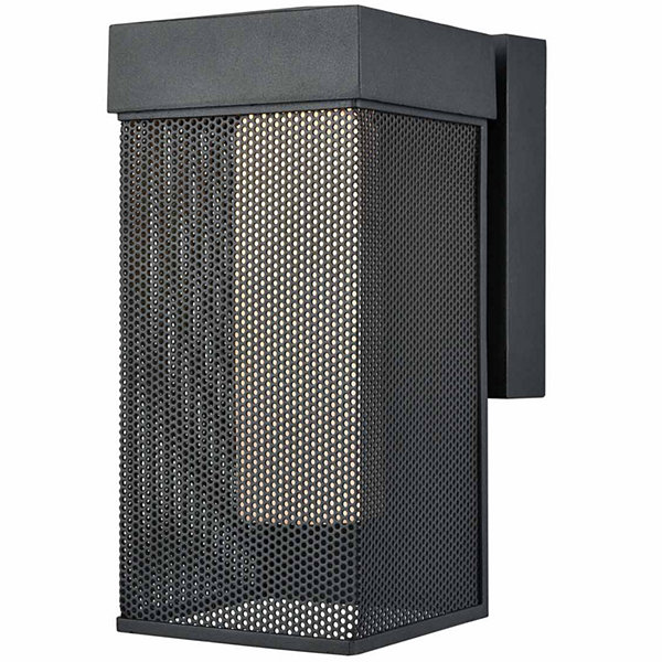 Estacada Dimmable LED Outdoor Wall Sconce In Matte Black With Opal White Glass