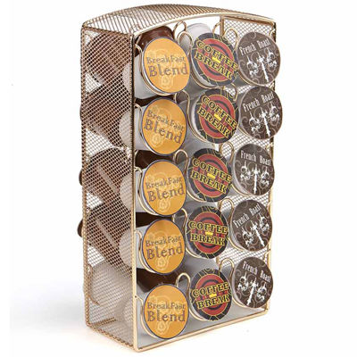 Mind Reader Rose Gold Mesh K-Cup® Coffee Pod Carousel