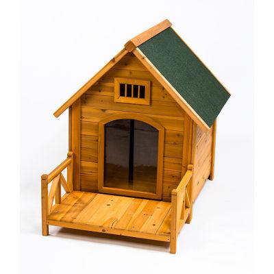 Creative Cedar Designs K-9 Kastle Medium Wooden Doghouse
