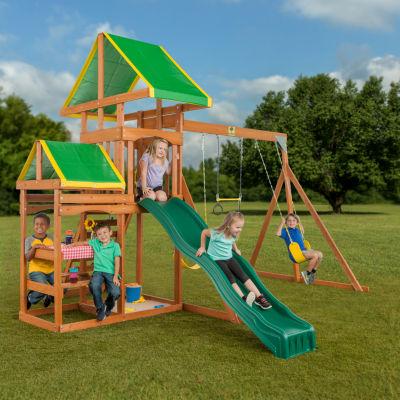 Creative Cedar Designs Woodlands Complete Wooden Playset