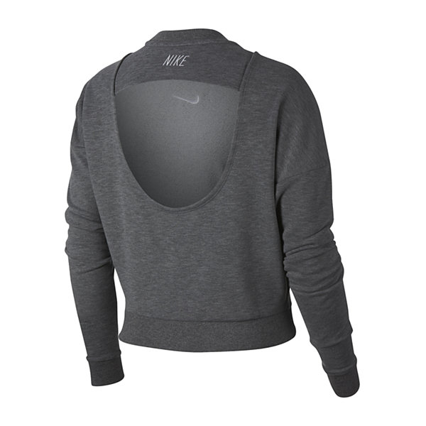 Nike Open Back Cropped Sweatshirt