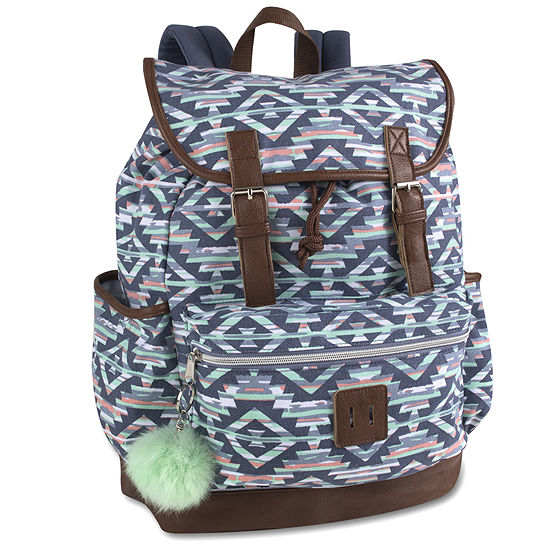 A D Sutton Cotton Drawstring Double Buckle Backpack