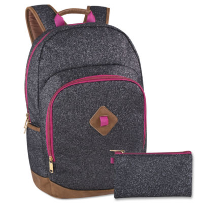 A D Sutton Glitterized Poly Backpack