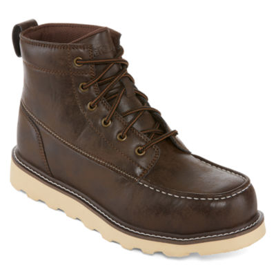 Big Mac Mens Oak Slip Resistant Work Boots Lace-up