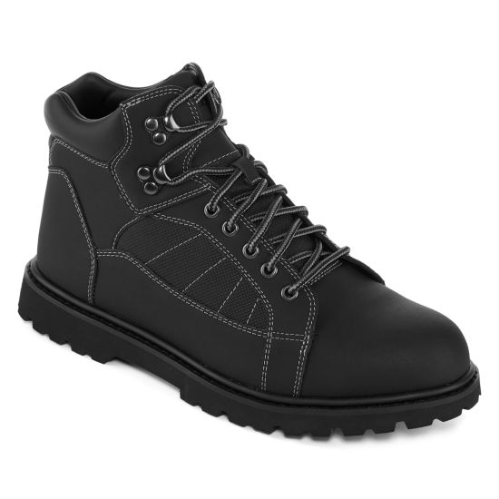 Big Mac Mens Benton Work Boots Slip Resistant Lace-up