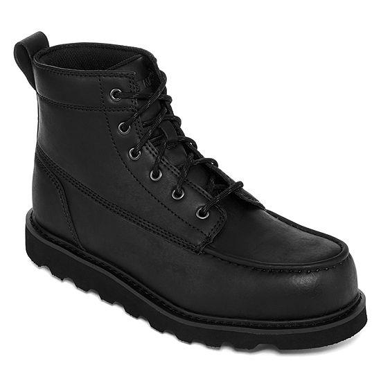 Big Mac Mens Oak Slip Resistant Work Boots