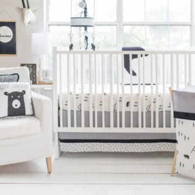 My Baby Sam Black Bear 3-pc. Crib Bedding Set