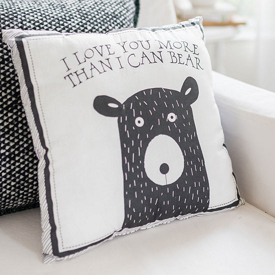 My Baby Sam Black Bear Square Throw Pillow