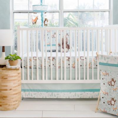 My Baby Sam Forest Friends 3-pc. Crib Bedding Set
