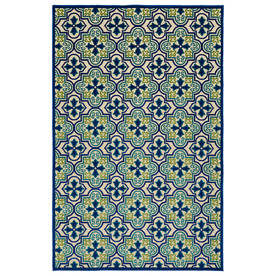 Kaleen Breath Of Fresh Air Patchwork Rectangular Indoor Outdoor Rug