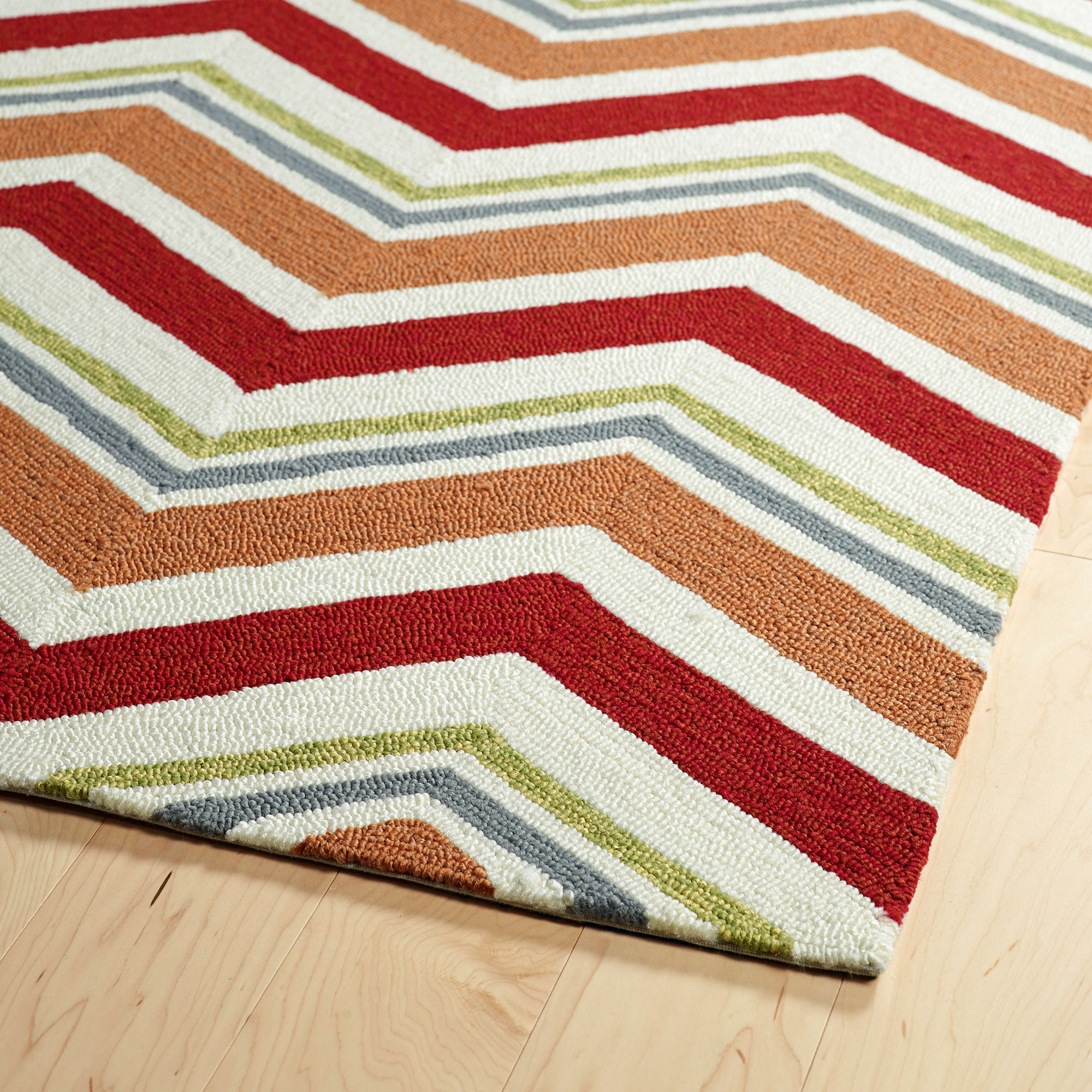 Kaleen Escape Chevron Rectangular Indoor/Outdoor Rug