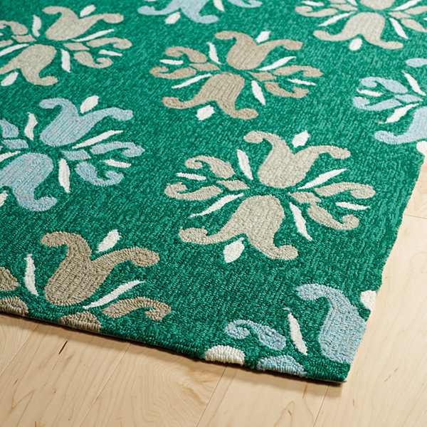 Kaleen Escape Damask Rectangular Indoor/Outdoor Rug