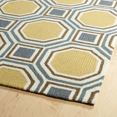 Kaleen Escape Tile Rectangular Indoor/Outdoor Rug