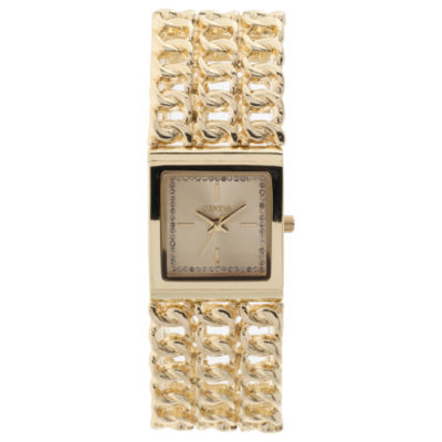 Geneva Womens Gold Tone Bracelet Watch-Jcp3028gt
