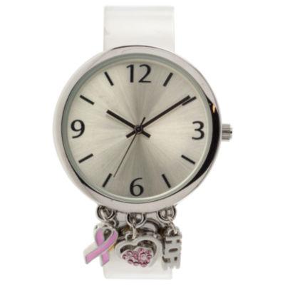 Mixit Womens Silver Tone Bangle Watch-Jcp3033st