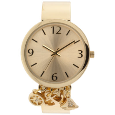 Mixit Womens Gold Tone Bangle Watch-Jcp3033gt