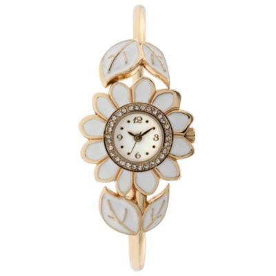 Mixit Womens White Bangle Watch-Jcp3036wt