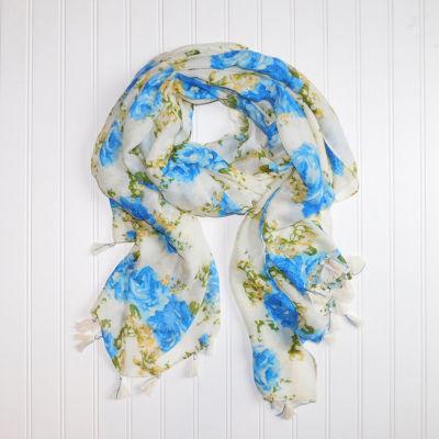 Design Imports Skinny Floral Scarf
