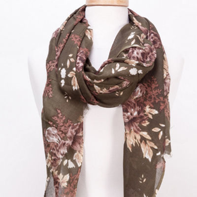Design Imports Skinny Floral Scarf