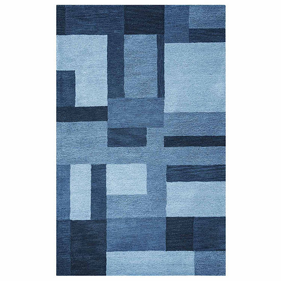 Rizzy Home Colours Collection Nicole Color Block Rectangular Rugs