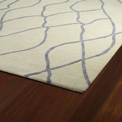 Kaleen Casablanca Lines Hand-Tufted Wool Rectangular Rug