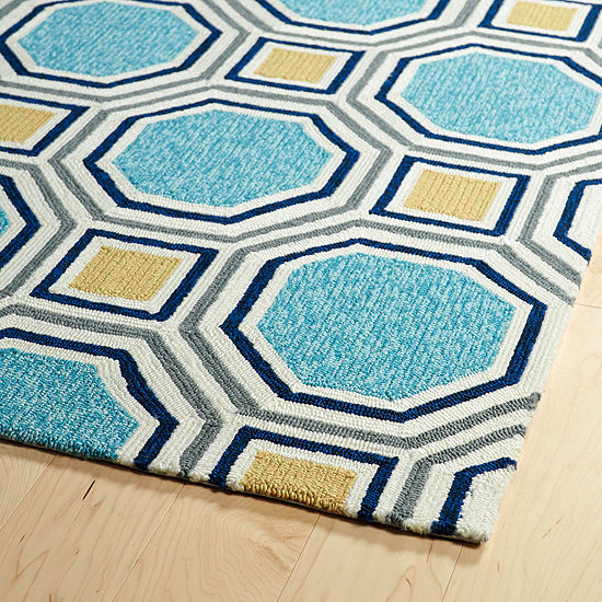 Kaleen Escape Tile Rectangular Indoor/Outdoor Rug