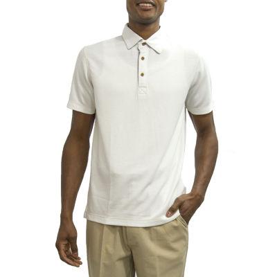Steve Harvey Short Sleeve Pattern Knit Polo Shirt Big and Tall