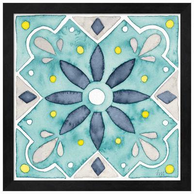 Metaverse Art Garden Getaway Tile V Teal