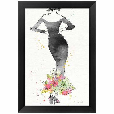 Metaverse Art Floral Fashion I v2 Framed Print