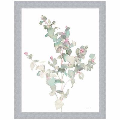 Metaverse Art Eucalyptus II White Framed Print