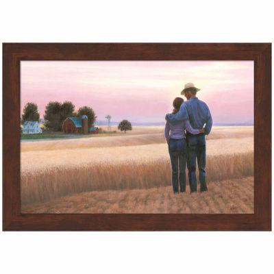 Family Farm Framed Print