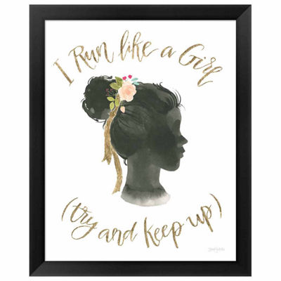 Metaverse Art Girl Power IX Framed Print